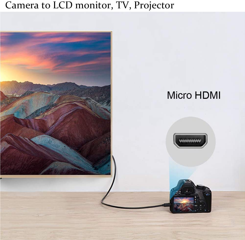 SX620 Compatible with Canon PowerShot SX740 HS SX720 HS SX730 HS G9 X G9 X Mark II 5 Feet Type D SX710 HS to HDMI Micro HDMI