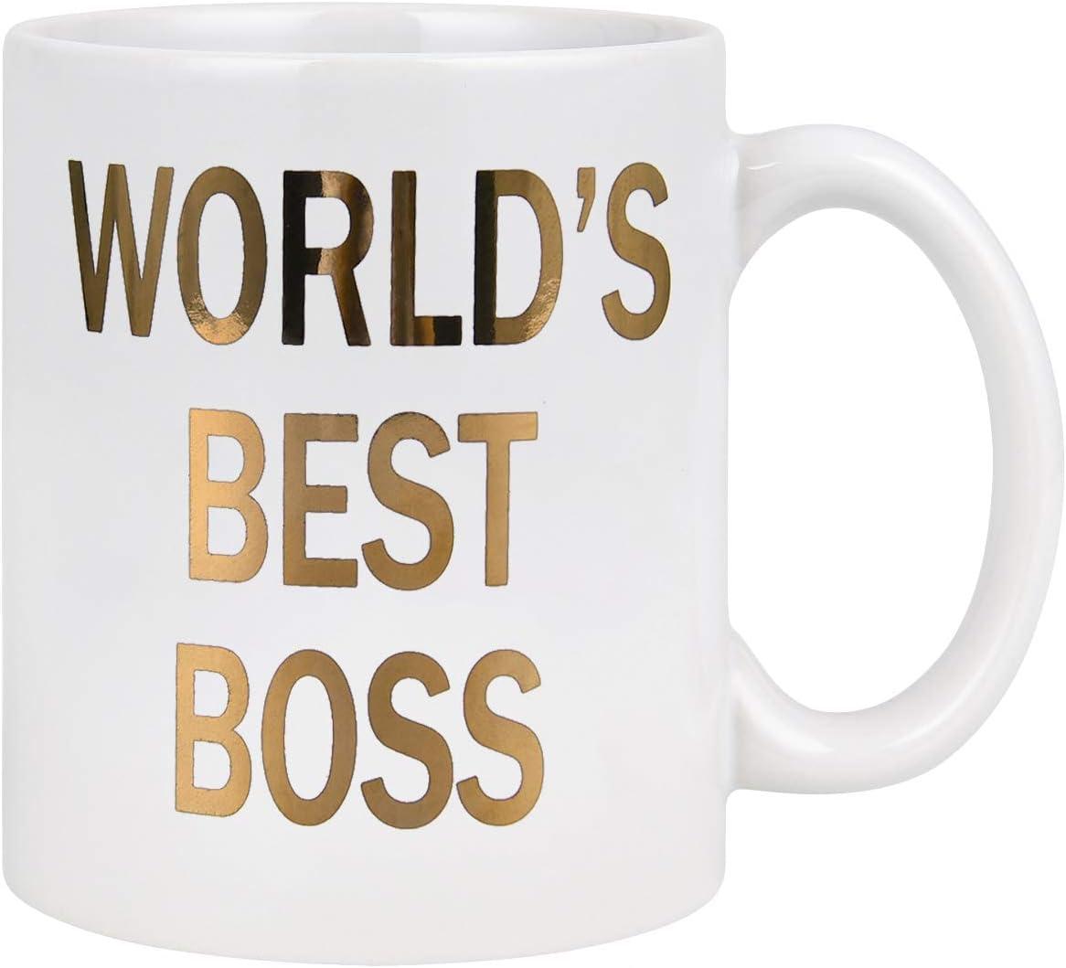 Funny Tea Hot Cocoa Coffee... Worlds Greatest Boss Mug Worlds Best Boss Mug