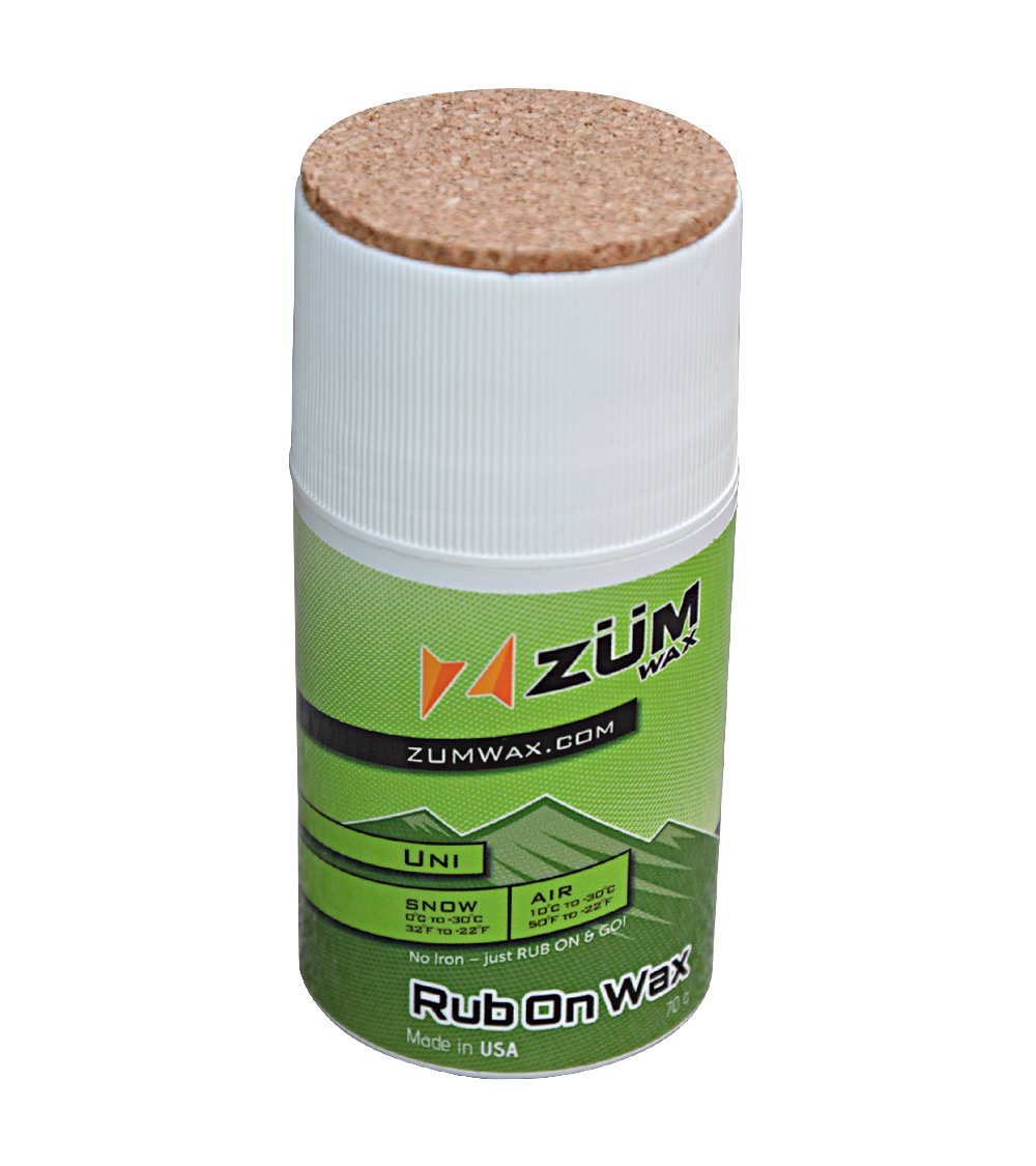 ZUMWax RUB ON WAX Ski/Snowboard - All Temperature Universal - 70 gram - INCREDIBLY FAST in ALL Temperatures!!! by ZUMWax