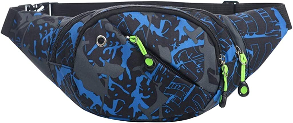 TEEGUI Unisex Outdoor Students Sport Luminous Strip Crossbody Bag Chest Bag Phone Bag