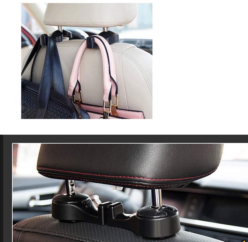 SXYLOB Auto Sedile Posteriore Gancio Auto Veicolo poggiatesta Sedile Sedia Gancio per Borsa Vestiti Grocery Black with Phone Holder