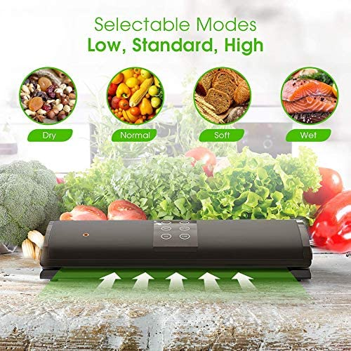 XLNB Vacuüm afdichtingsmachine,Vacuüm Sealer,Automatische Voedsel Sealer Machine Voedsel Vacuüm Luchtafdichtingssysteem met 20 Verzegelende Zakken voor Droog en Natte Voedsel