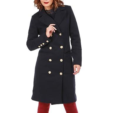 juste prix style le plus récent en stock La Modeuse - Manteau Style Officier Femme: Amazon.fr ...