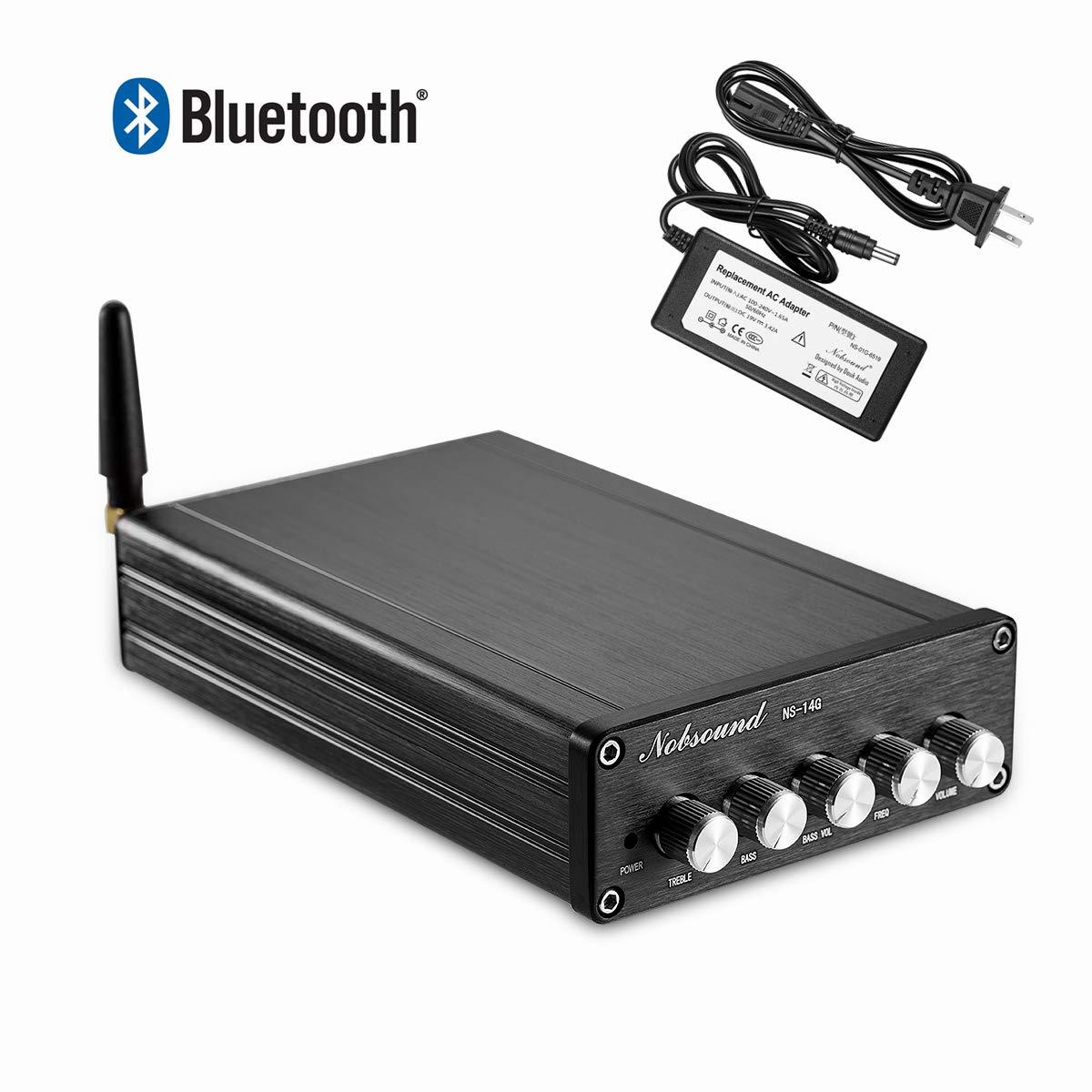 Nobsound 2.1 Channel Bluetooth 4.2 Amplifier , Class D Stereo Audio Amplifier , Mini Home Theater Power Amp , Digital Power Subwoofer Amplifier Receiver , 100W+50Wx2, Treble & Bass Control (NS-14G)