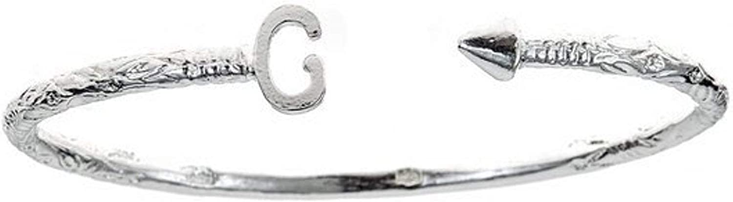 Virginia Beach Mall Personalized Letter + Arrow End Brand new Sterling .925 Bangle Indian West