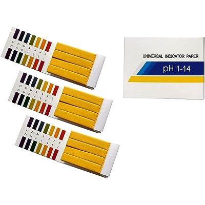 Fontee® 240 tiras tornasol pH de 1 a 14 papel de prueba- Ideal para probar muchas sustancias cotidianas habituales, como jabón hidratante, zumo de limón, leche, detergente líquido, etc.
