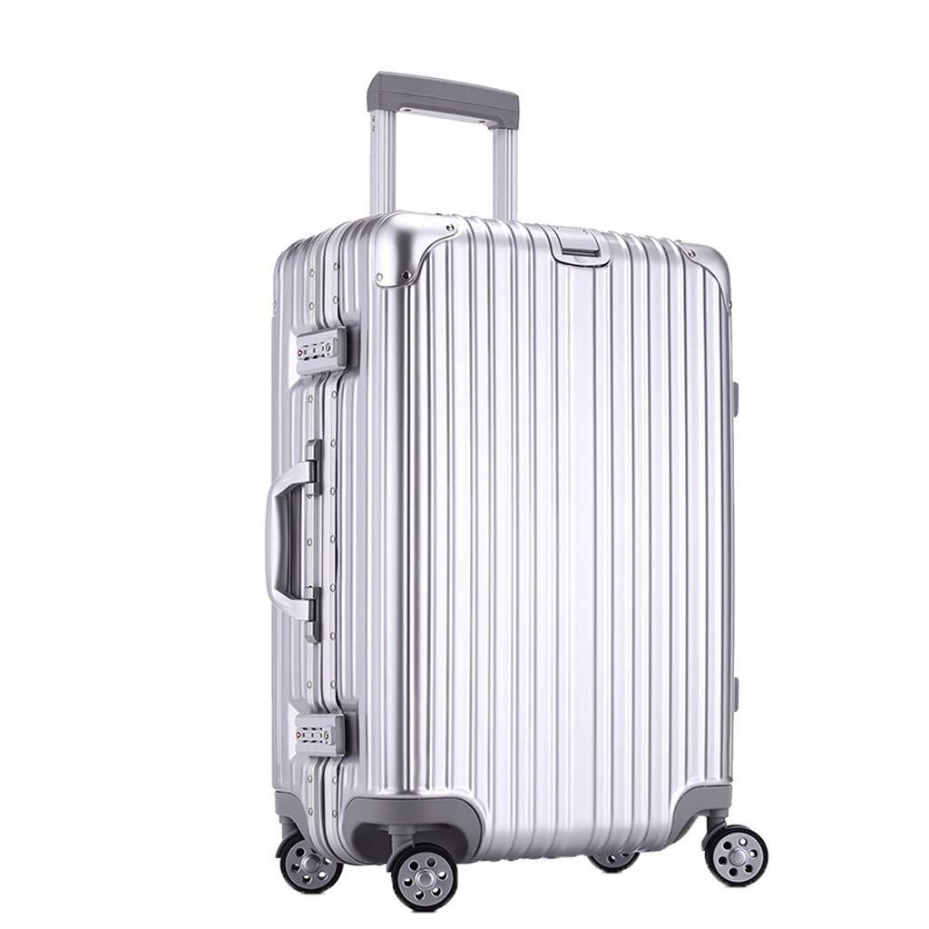 スーツケース トロリーケースアルミフレームラゲージスーツケース滑らかで耐摩耗性のあるシルバー、赤2色20(35 * 22 * 54)22(36 * 25 * 59)2サイズ (色 : シルバー しるば゜, サイズ さいず : 20(35*22*54)) B07RZ3532B シルバー しるば゜ 20(35*22*54)