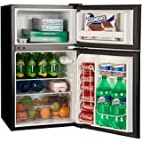 Haier HC32TW10SB 3.2cu ft 2Door Mini Refrigerator for Garage Dorm Office - Black