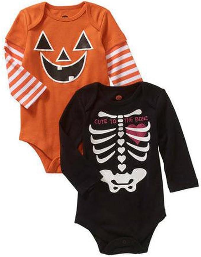Halloween Baby Vest Too Cute To Spook Boy Girl Short Sleeved Bodysuit Gift
