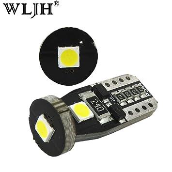 WLJH T10 W5W Bombilla LED Blanco Osram 3030 Chipset Canbus Libre de Error Non Polaridad Luz