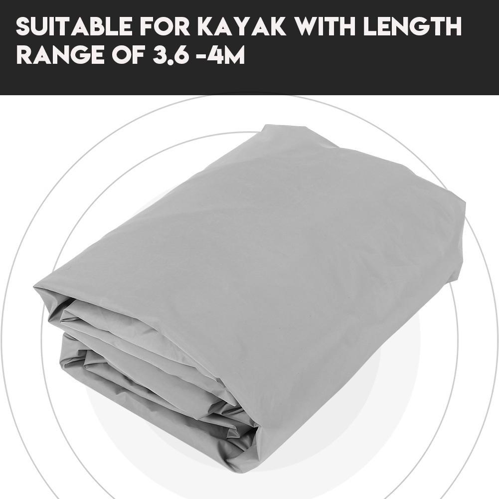 Alomejor Cubierta de Kayak 4.5 m Canoa a Prueba de Agua Cubierta de protecci/ón contra el Polvo UV Protecci/ón Solar para Kayak en Canoa