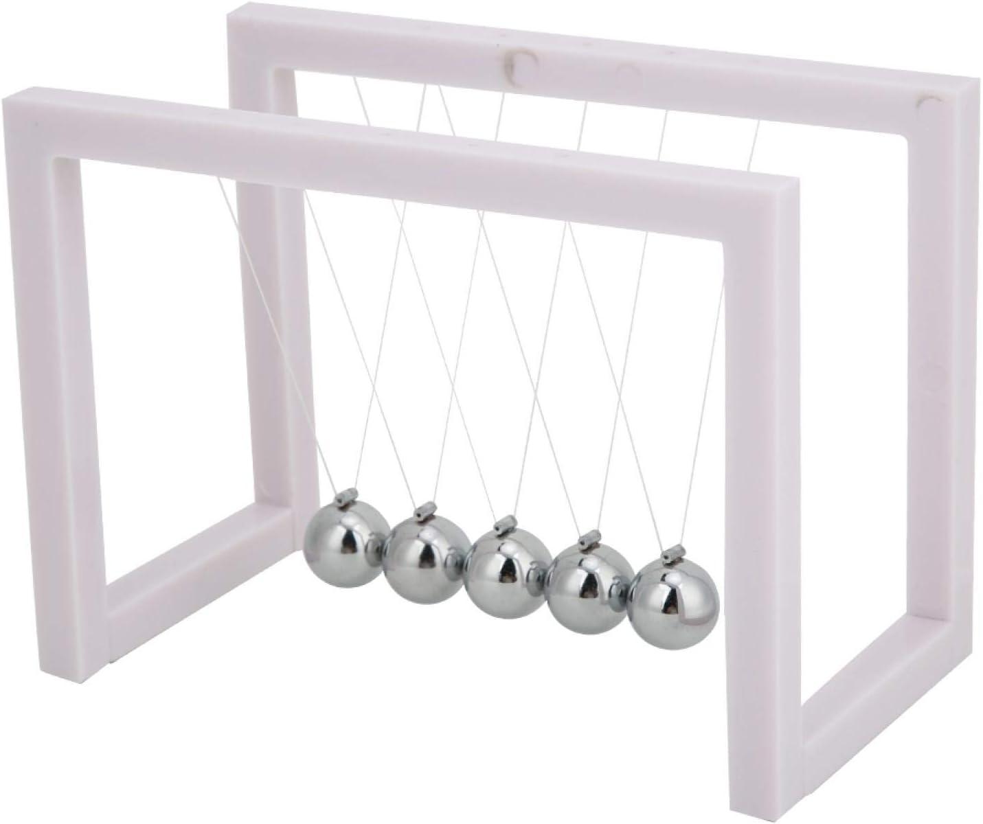 A sixx Pendulum Ball, Solid Steel Ball Sturdy White Pendulum Balls, for Home Office Gifts Desk
