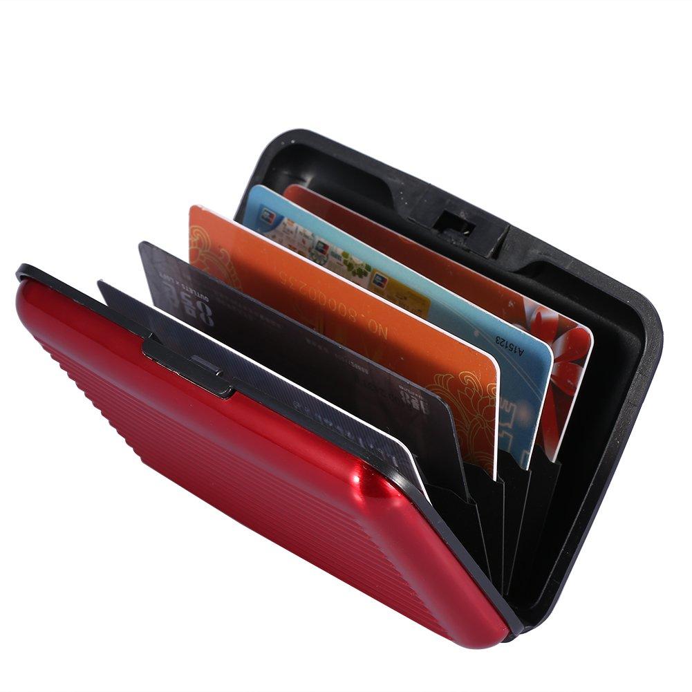 PX07 Rosado Mengshen Bloqueo RFID Tarjeta de cr/édito Wallet Protector de Tarjetas de cr/édito para Viajes o Negocios