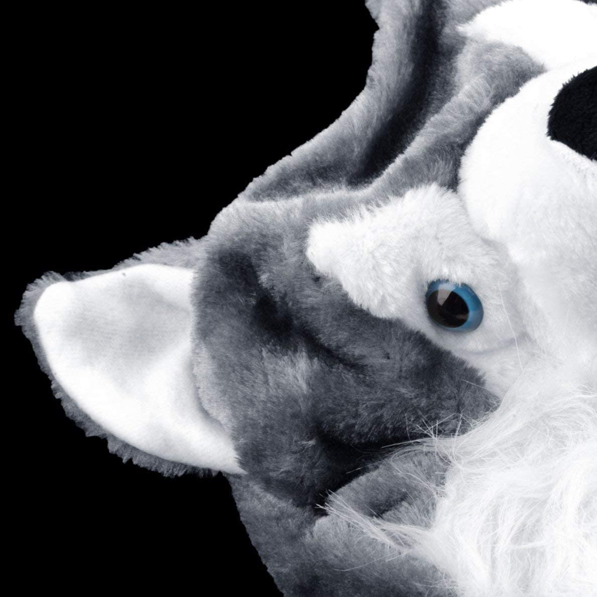 uqiangbao Cartoon Animal Style Wolf Hat Cute Fluffy Kids Cap Soft Warm Scarf Earmuff Plush Hat Mascot Huskies Hat