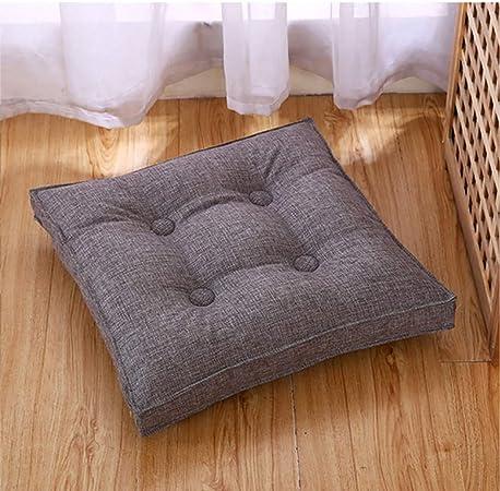 QHQH Cuscino per sedie,Tessuto Staccabile in Cotone e Lino