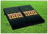 CORNHOLE BEANBAG TOSS GAME Lucky 7's Casino Slot Game w Bags Game Board Set 538