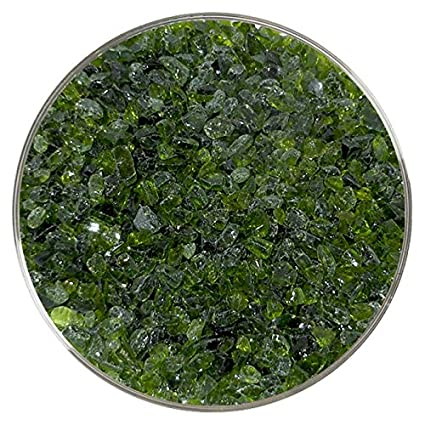 Moss Green Transparent Fusible Glass Coarse Frit 96COE 4oz Made from System 96 Glass