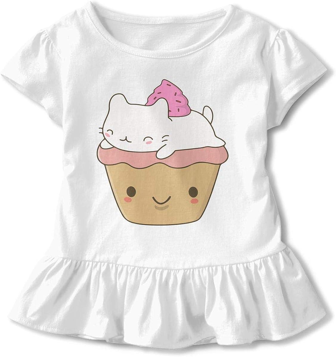 Kawaii Cat Burger Kids Children Short-Sleeved Tshirts Dress