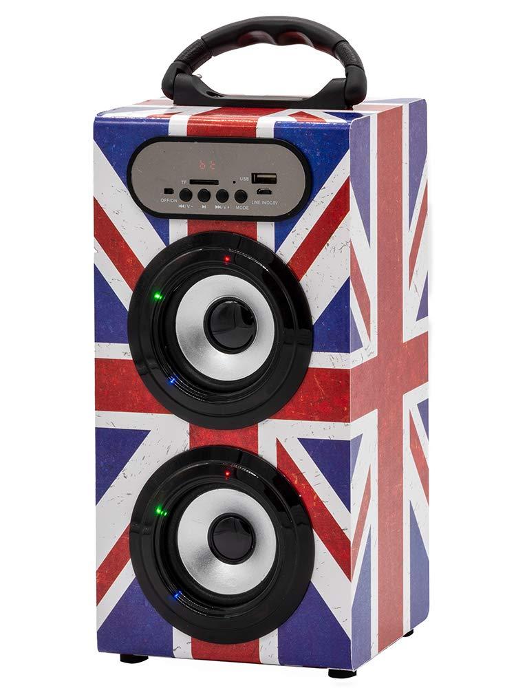 TEKNOFUN Altavoz Bluetooth Estilo UK Grunge