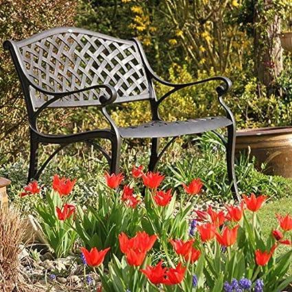 Phenomenal Lazy Susan Jasmine 102Cm Sand Cast Aluminium Garden Bench Weatherproof Built To Last Antique Bronze Finish No Cushion Pabps2019 Chair Design Images Pabps2019Com