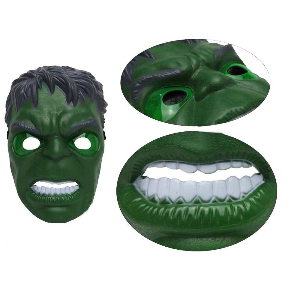 morningsilkwig Hulk Máscara Movie Fantastic Four Cosplay Hombres látex Juguete del Partido para Halloween (S, Green): Amazon.es: Juguetes y juegos