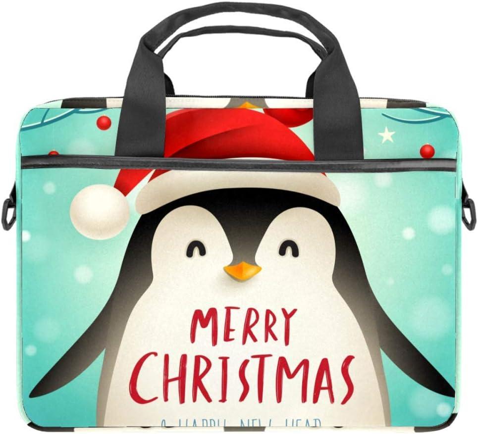 TIZORAX - Bolsa para portátil con asa (15-15,4 pulgadas), diseño de pingüino