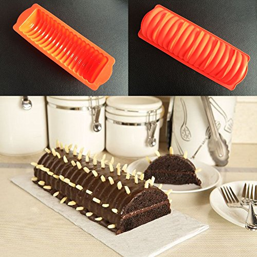 Vincent-Prestiges Vincent-Prestiges - DIY Cylinder Caterpillars Bundt Cake Mousse Bread Loaf Silicone Mold Baking Pan Cake Pasty Tools Silicone Cake Pan Mold price tips cheap