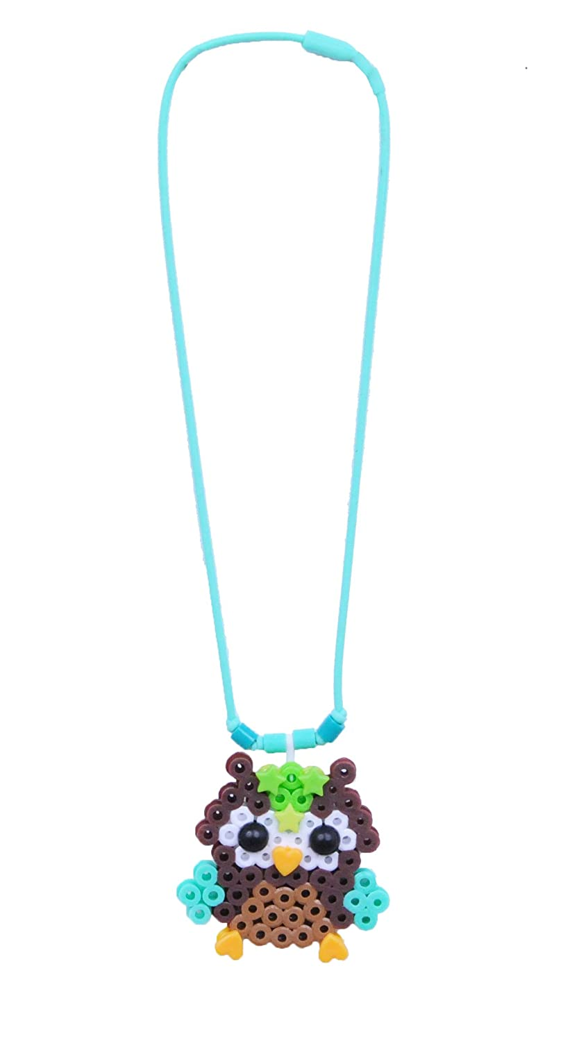 Perler Snap-Ins Fused Bead Kit-Owl Necklace 80-52946