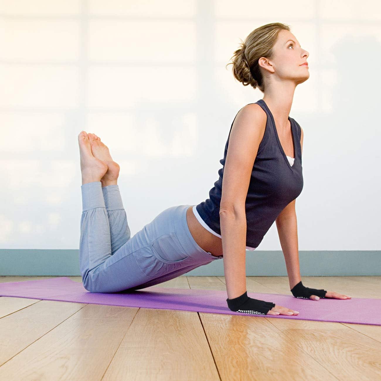 Amazon.com: SUNLAND - Guantes de yoga con agarre ...