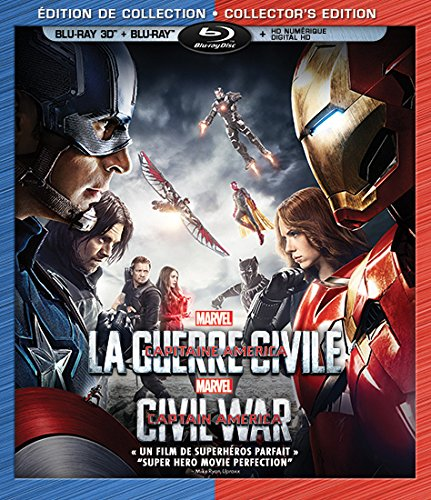 Captain America: Civil War (Bilingual) [3D Blu-ray + Digital Copy]