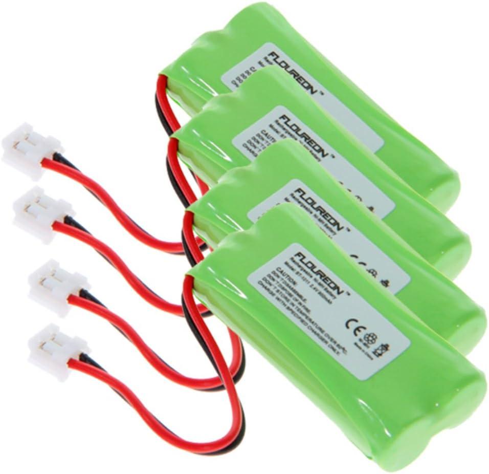 FLOUREON 4 Paquetes 2,4 V 900 mAh teléfono inalámbrico de batería teléfono Pilas para Motorola L301, L302, L303, L304, L4, L401, L402, L402 C, L403, L403 C, L404, L404 C: Amazon.es: Oficina