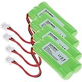 Floureon 4 Packs 2.4V 900mAh Rechargeable Cordless Phone Telephone batteries for AT&T/Lucent BT-18433 BT-184342 BT-28433 BT-284342 BT-6010 BT-8000 BT-8001 BT-8300