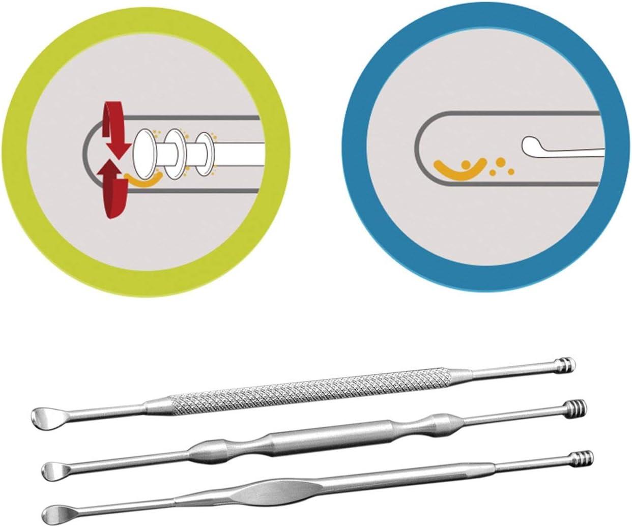 Outils de nettoyage doreille en acier inoxydable Ear Care Oreilles Oreilles Safety Safety Earpick Dig Dispositif de nettoyage doreille oreille cuill/ère couleur: argent