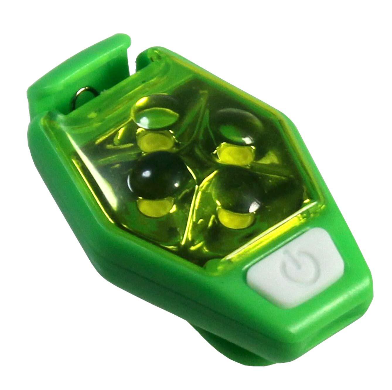 VViViD Bright Green LED Clip-On Flashing Running Safety Light