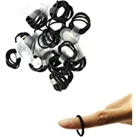 Zcoins Thin Hair Tie for Women Toddler Ponytail Holders Baby Girl Hair Ties Black 100 Pieces