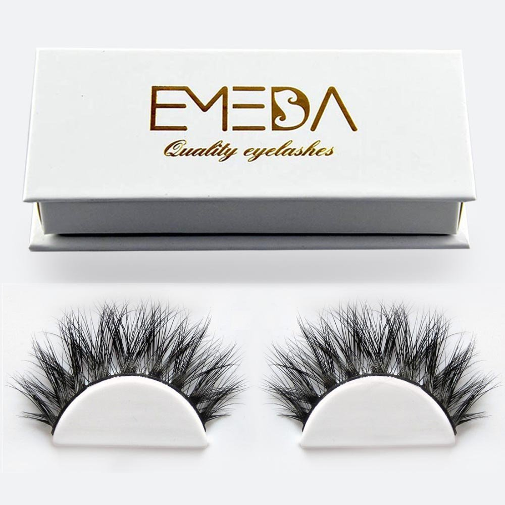 3D Individual lashes Fake Eyelashes 1 pair 3D Natural False Eyelashes Thick Lashes Long Natural Eyelashes for Beauty Faux Mink Lashes EMEDA