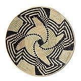 The Crabby Nook Black Swirl Design Fruit or Display African Basket Handwoven Home Decor