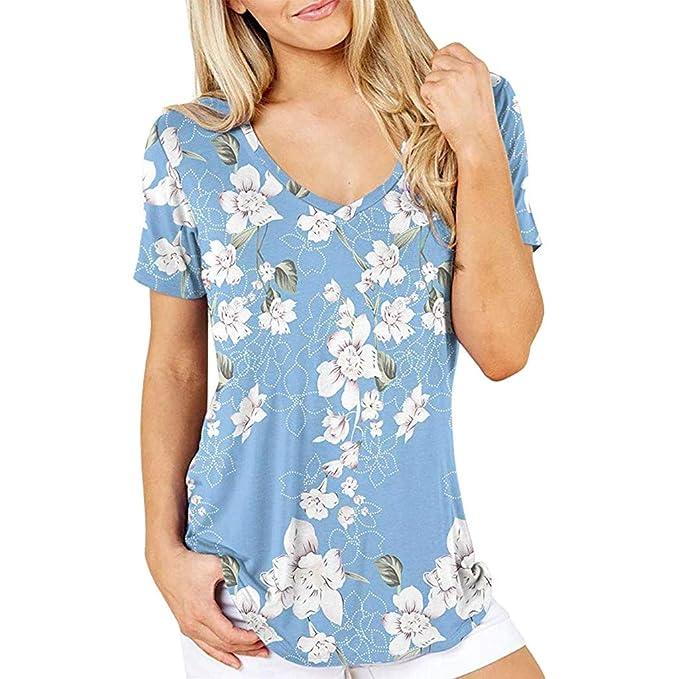 Yvelands Camiseta con Estampado Floral de Ventas Moda para Mujer ...