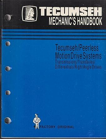 Tecumseh Engines Mechanic S Handbook 1989 Peerless