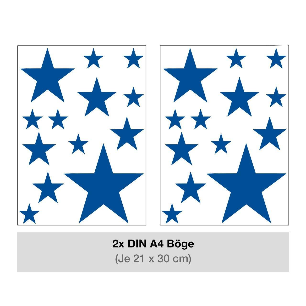Dekoartikel Fur Kinderzimmer Wandtattoo Kinderzimmer Wandsticker Set Aquarell Sterne In Blau Zum Kleben Wand Baby Luxdental Si