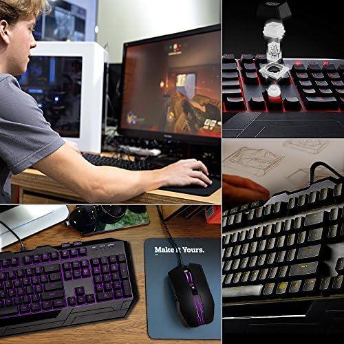 Cooler Master Devastator 3 - Combo de teclado y mouse para juegos, retroiluminación LED de 7 modos de color, teclas multimedia, configuración de 4 DPI 4