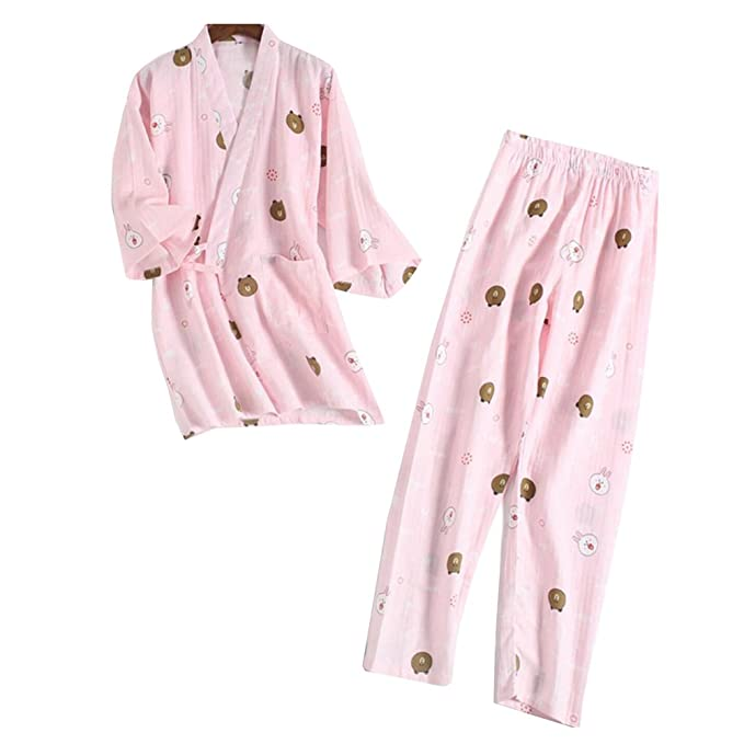 Fancy Pumpkin Traje de Pijamas de Traje de Pijamas Kimono de Estilo Japonés para Mujer [