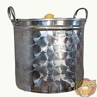 Hoppy - Olla de acero inoxidable con grifo y tapadera, gran calidad, para cerveza, etc.