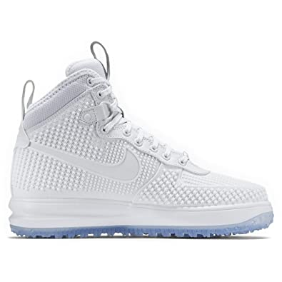 buy online 6c9fe bbed8 Nike Lunar Force 1 Duckboot PRM, Chaussures de Sport-Basketball Homme, Blanc
