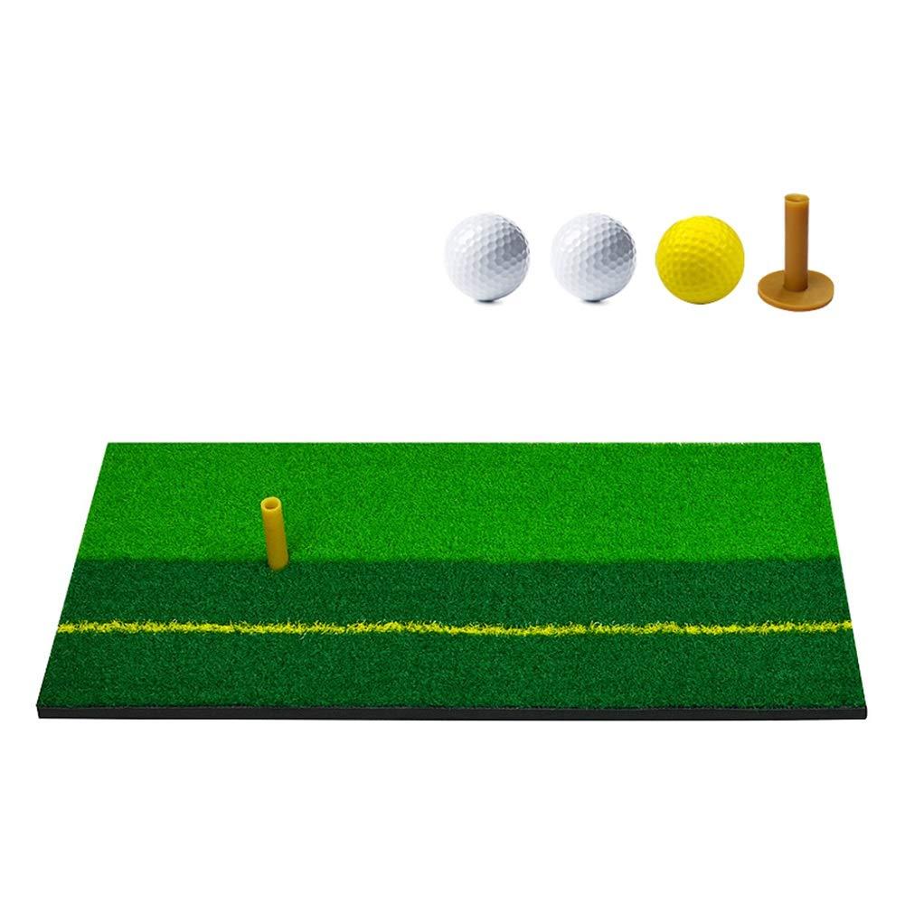 ゴルフマット、ラバーホルダー付きゴルフ練習用マット、屋内用練習用マット   B07PM48W7Q