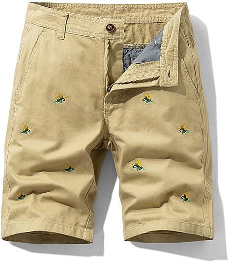 NGRDX&G Bermuda Verano Animal Bordado Hombres Baggy Multi Pocket Cargo Shorts Hombre Algodón Caqui Pantalones Cortos para Hombre Pantalones Cortos: Amazon.es: Deportes y aire libre