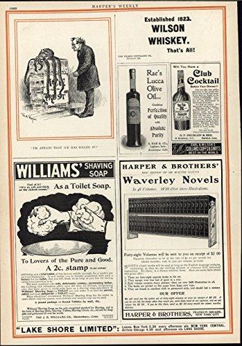 Wilson Whiskey Political Cartoon Toilet Soap 1900 antique advertising print