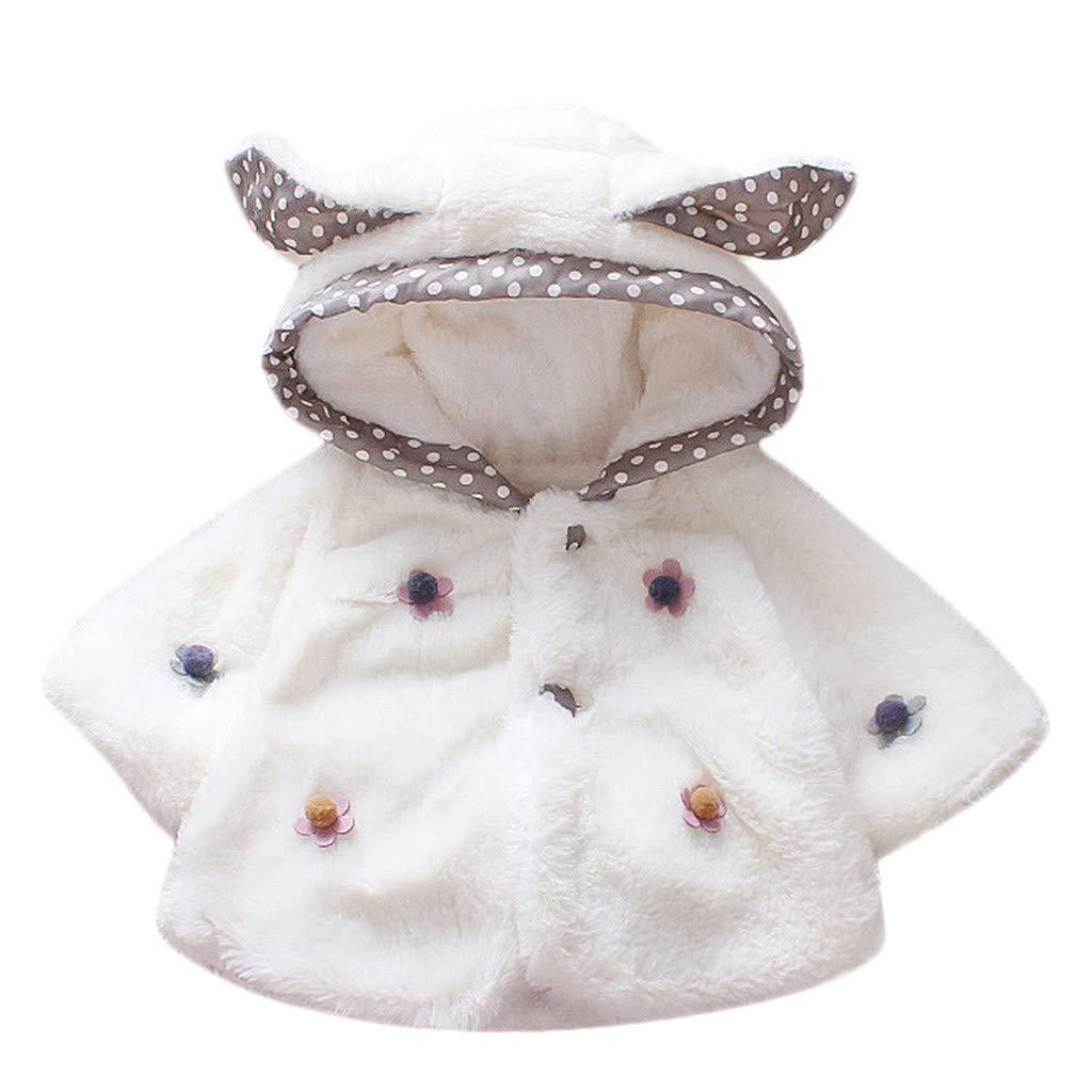 Lifestyler Fashion Girls Long Sleeves Button Jacket Keep Warm Cartoon Ear Villus Hooded Coat