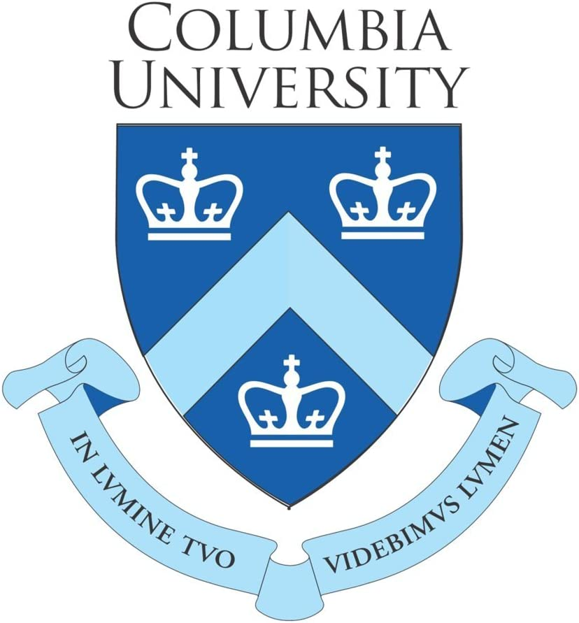 Columbia University Logo CreativeStickers0201 Set Of Two (2x) Stickers , Laptop , Ipad , Car , Truck , Size 4 inches on Longer Side