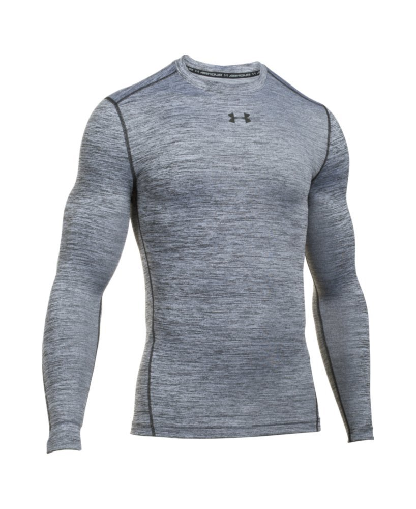 Under Armour Men's ColdGear Armour Twist Compression Crew, White/Black, Medium by Under Armour (Image #4)